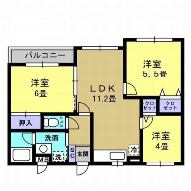 LDK11.2帖・洋室5.5帖・洋室4帖・洋室6帖