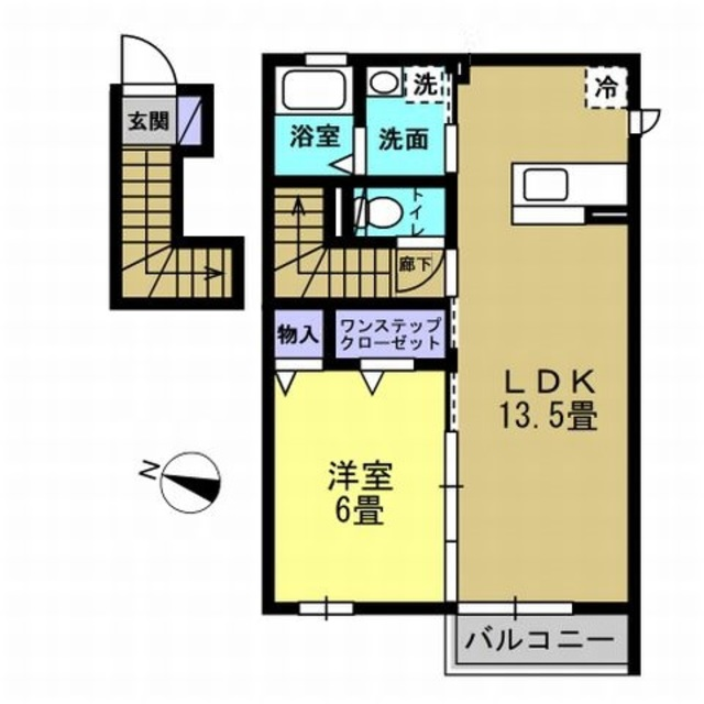 LDK13.5帖・洋室6帖