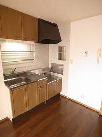 木目調キッチン。。かわいい。。