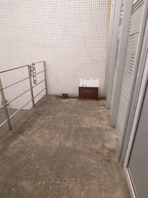 洗濯物はここで干せます!
