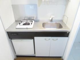 ミニ冷蔵庫付のガスキッチンです!