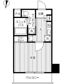 スカイコート武蔵新田4階Fの間取り画像