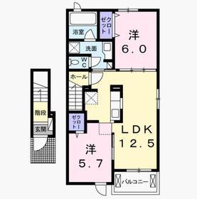 2LDK 56.68平米 6.5万円 香川県高松市木太町