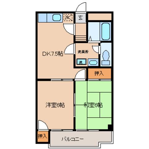 DK7.5帖 洋室6帖 和室6帖
