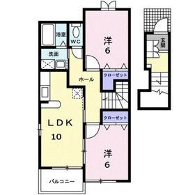 2LDK 57.22平米 4.5万円 香川県高松市高松町