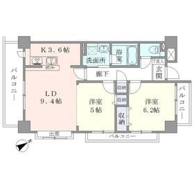 Apartment・H5005階Fの間取り画像