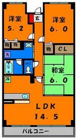 広々としたリビングでお部屋も3部屋☆