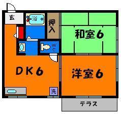 使いやすいシンプルな2DKです☆