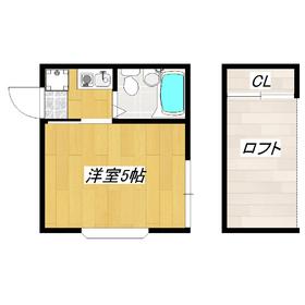 2面採光の角部屋!ロフト付きでお部屋を広く使えますよ