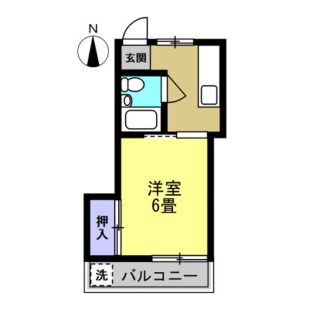 K2帖、洋室6帖