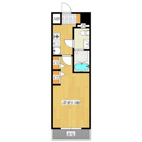 約9帖の広い居室が人気の分譲賃貸です!
