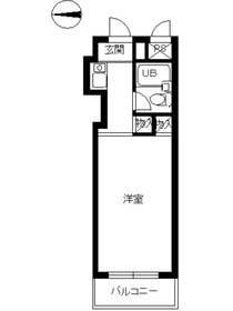 スカイコート宮崎台2階Fの間取り画像