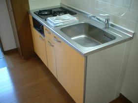 調理スペースもしっかりある2口キッチン