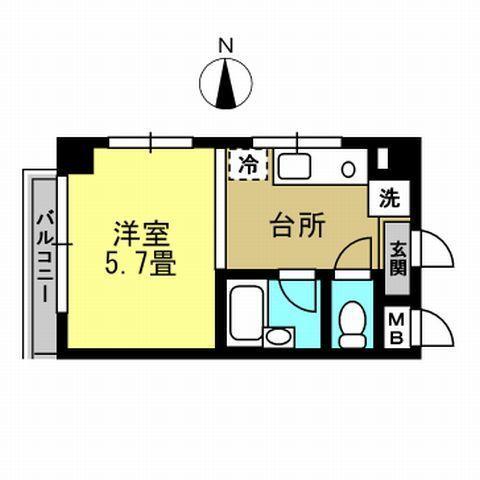 洋室5.7帖 キッチン
