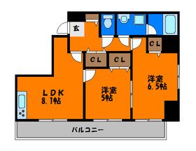 オールフローリングの2LDKのお部屋です♪