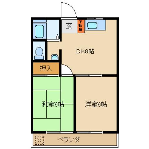和室6 洋室6 DK8