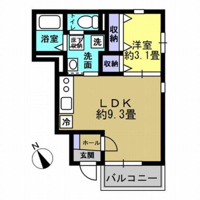 1LDK LDK9.3 洋3.1