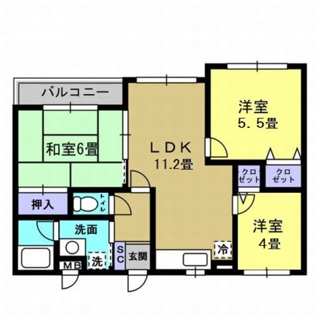 LDK11.2帖・洋室5.5帖・洋室4帖・和室6帖