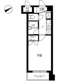 スカイコート新宿新都心4階Fの間取り画像
