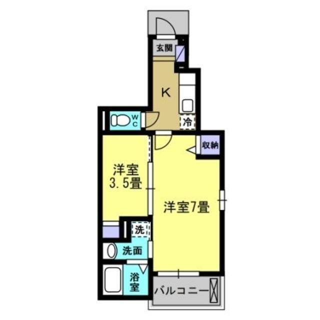 K2.8帖・洋室7帖・洋室3.1帖