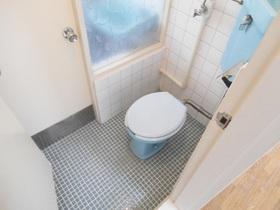ブルーの配色が爽やかなトイレです!