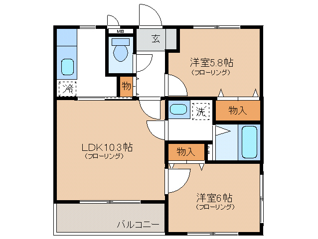 LDK10.3 洋室6 洋室5.8