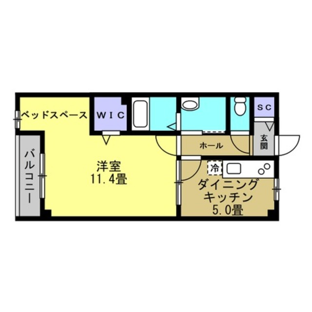 DK5帖 洋室11.4帖