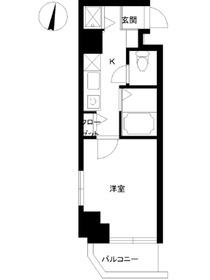 スカイコート神楽坂壱番館4階Fの間取り画像