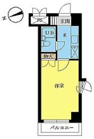 スカイコート八王子4階Fの間取り画像