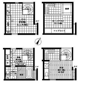 LIGHT HOUSEⅡ1-3階Fの間取り画像