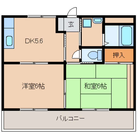 DK5,6 洋室6 和室6(反転タイプ)