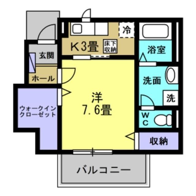 K3帖・洋室7.6帖
