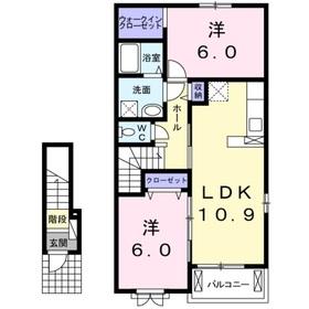 2LDK 46.06平米 5.3万円 愛媛県大洲市平野町 野田1587ー1