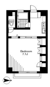 ヒルズK2階Fの間取り画像