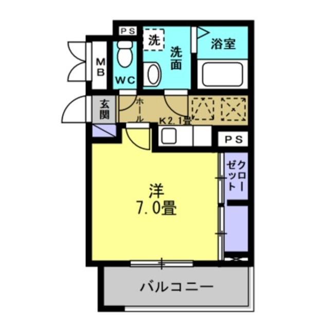 K2.1帖・洋室7帖