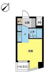 スカイコート西川口第61階Fの間取り画像