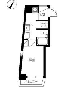 スカイコート目黒壱番館2階Fの間取り画像