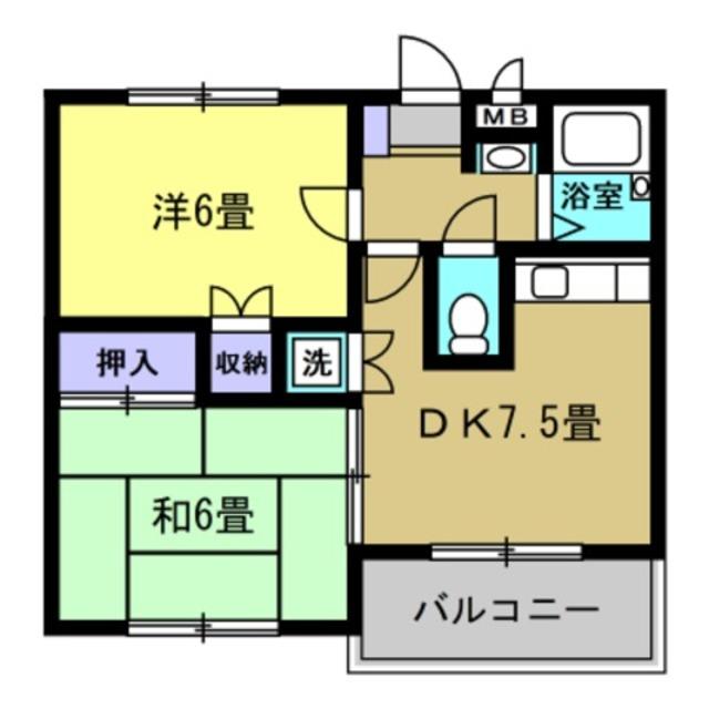 DK7.5帖・洋室6帖・和室6帖