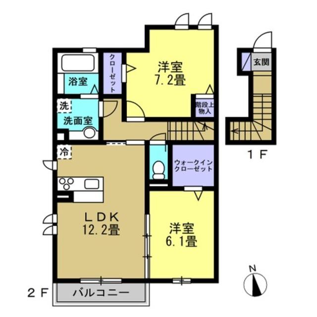 LDK12.2帖・洋室6.1帖・洋室7.2帖