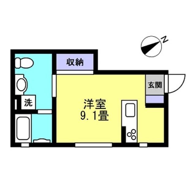 洋室9.1帖