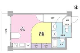 ボヌール都立大学壱番館1階Fの間取り画像