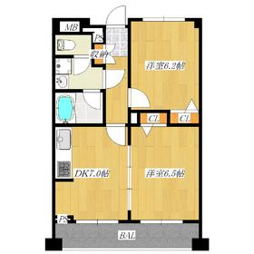 6.2帖の洋室と、つなげても使えるDKと洋室!