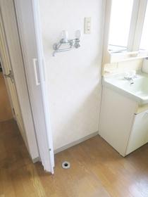 洗濯機置き場です!