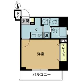 スカイコート浅草雷門2階Fの間取り画像