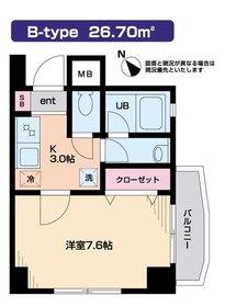 Felicia目黒4階Fの間取り画像