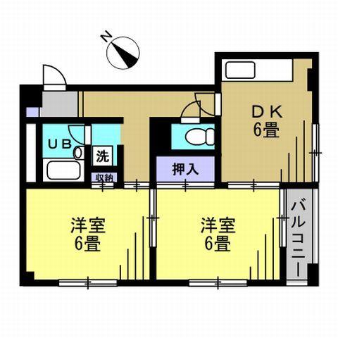 DK6帖、洋室6帖、洋室6帖