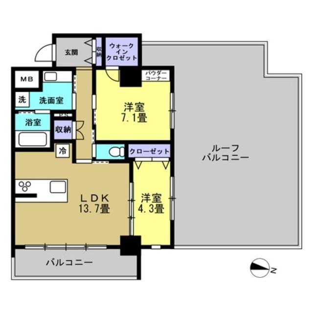 LDK13.7帖・洋室7.1帖・洋室4.3帖