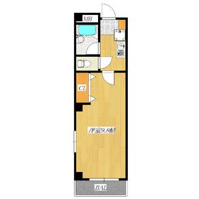 広々約10帖の居室が人気の1Kです!