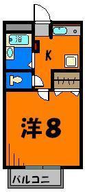 使いやすい、正方形の8帖部屋!