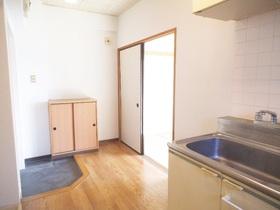 キッチン周りは広々スペースで家具など沢山置けそうです☆
